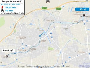 Access Google maps temple #6 : Anrakuji The 88 temples Shikoku pilgrimage ( Henro Michi )