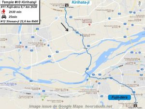 Accèder à pied au onzième temple : Fujiidera du I63pèlerinage de Shikoku (Shikoku hachijū hakkasho)