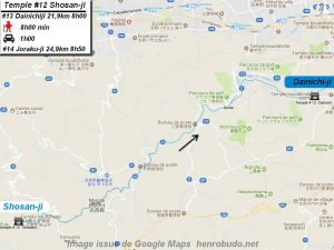 Accèder à pied au treizième temple : Dainichiji du pèlerinage de Shikoku (Shikoku hachijū hakkasho)