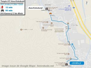 Access Google maps temple #15 : Awa-Kokubunji The 88 temples Shikoku pilgrimage ( Henro Michi )