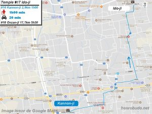 Access Google maps temple #17 : Idoji The 88 temples Shikoku pilgrimage ( Henro Michi )