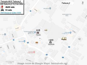Henro Michi Temple numéro 19 Tatsueji plan maps Hondo et Dashido