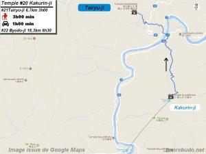 Accèder à pied au vingt et unième temple : Tairyuji du pèlerinage de Shikoku (Shikoku hachijū hakkasho)