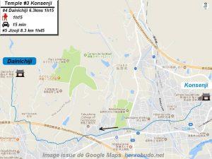 Accèder à pied au quatrième temple : Dainichiji du pèlerinage de Shikoku (Shikoku hachijū hakkasho)