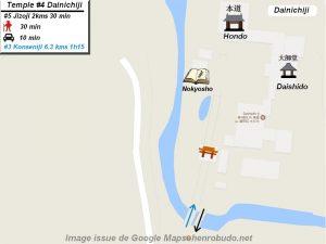 Henro Michi Temple numéro 4 Dainichiji plan maps Hondo et Dashido