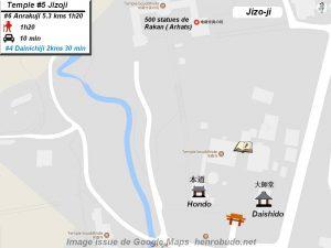 Henro Michi Temple numéro 5 Jizoji plan maps Hondo et Dashido