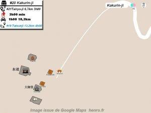 Henro Michi Temple numéro 20 Kakurinji plan maps Hondo et Dashido