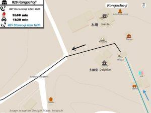 Plan d'accès au daishido et hondo Temple #26 Kongochoji Voir sur Google maps